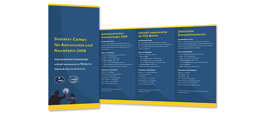 Flyer Sommer-Camps Astronomie